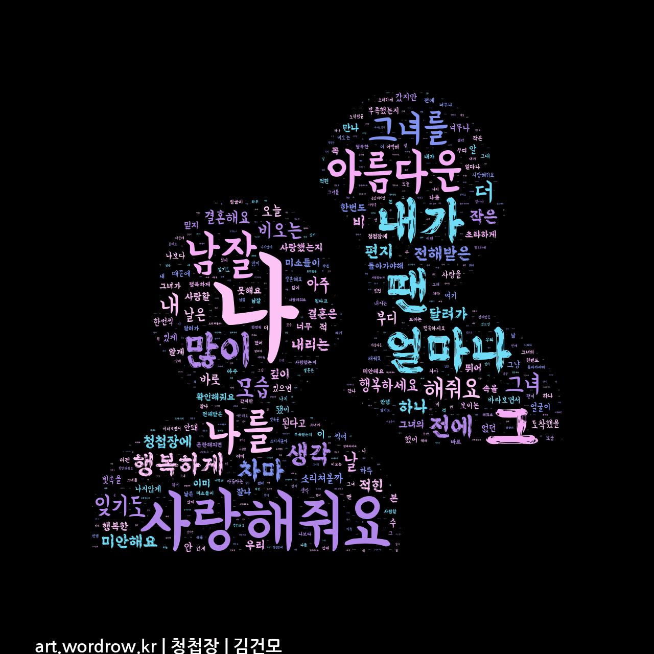 워드 클라우드: 청첩장 [김건모]-10